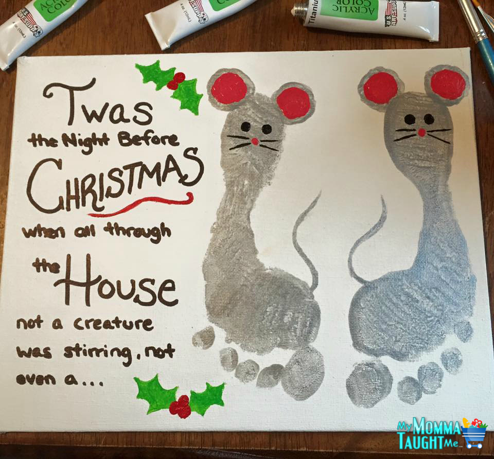 Night Before Christmas Canvas Art - My Momma Taught Me